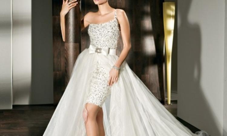 بالصور…عروس 2014 بفستان زفاف قصير