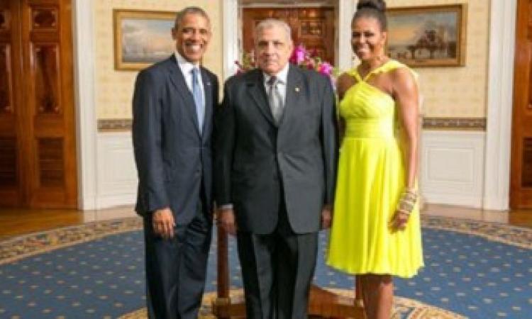 أوباما يستقبل محلب وزعماء أفريقيا فى حفل عشاء تاريخى