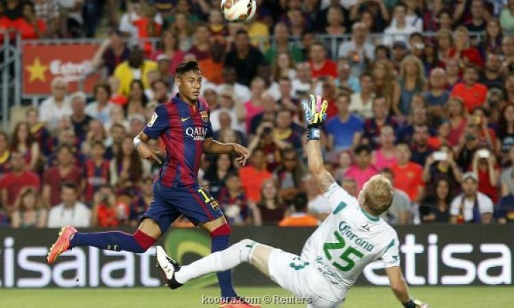 بالفيديو .. برشلونة يسحق ليون بسداسية بمشاركة سواريز