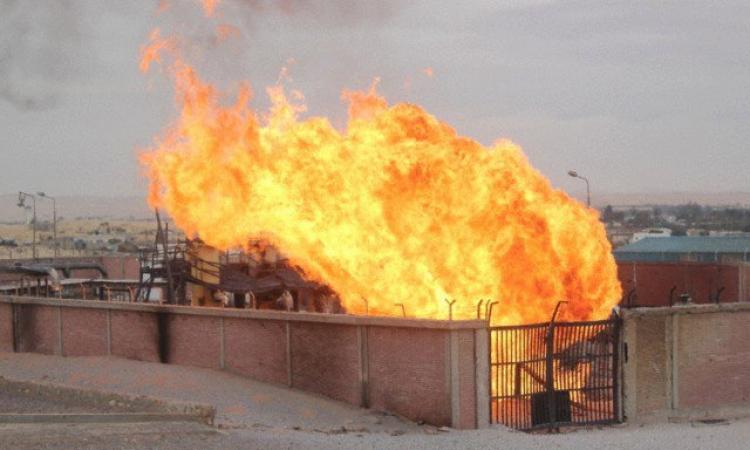 تفجير خط الغاز الطبيعي الاحتياطي بالعاشر من رمضان بعبوة ناسفة