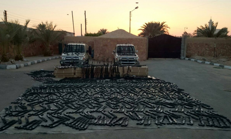 بالصور.. مضبوطات حرس الحدود في سيناء