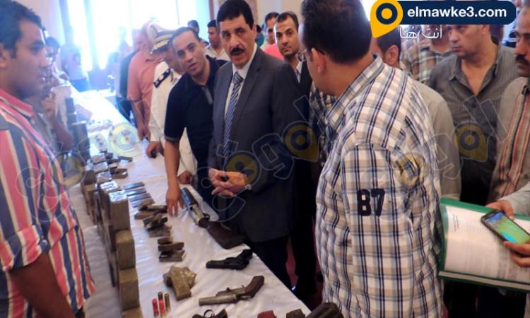 أمن الأسكندرية تضبط 67 قطعة سلاح ناري وكمية كبيرة من مخدر الحيشيش