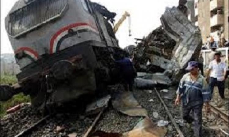 تصادم بين قطار وسيارة ملاكي بالبحيرة يسفر عن مصرع 5 أشخاص وإصابة 2