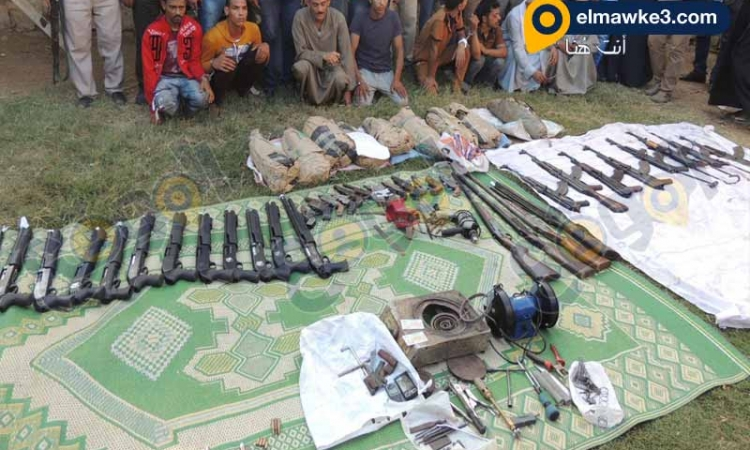 بالفيديو… مديرية أمن المنيا يضبط ورشتين لتصنيع الأسلحة النارية وكمية مخدر البانجو