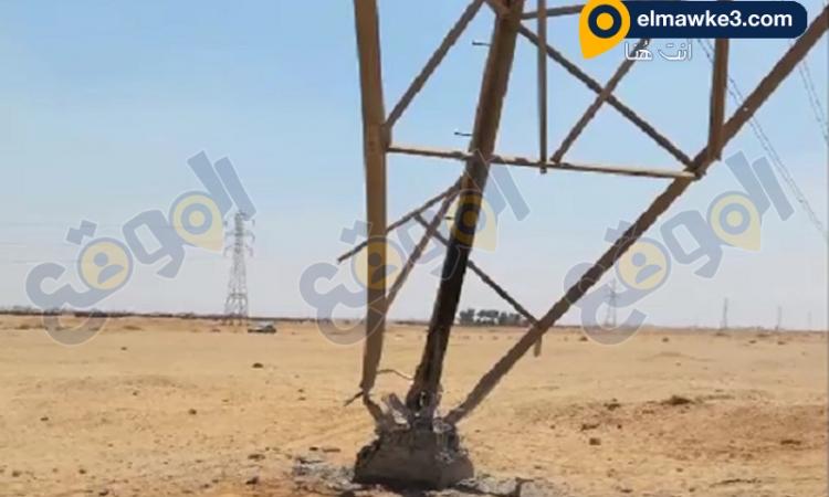 بالفيديو… أمن الشرقية يمنع تفجير برج كهرباء ضغط عالى بطريق بلبيس العاشر