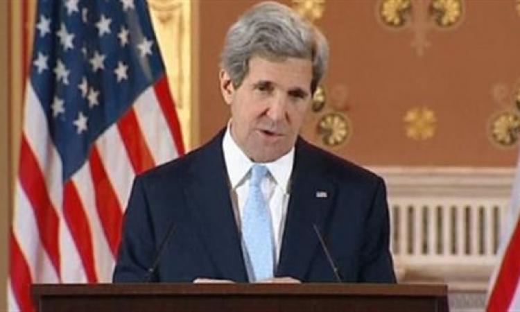 كيري يثمن دور مصر للتوصل إلى وقف إطلاق النار بغزة