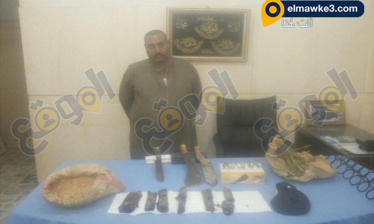 أمن شمال سيناء تضبط هارب وبحوزته متفجرات وأسلحة بيضاء ومواد مخدرة
