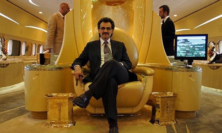 """بالصور .. جولة داخل """" القصر الطائر الذهبي """" للوليد بن طلال"""