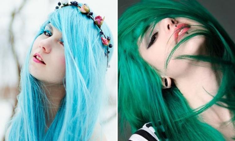 بالصور.. أغرب تقاليع ألوان الشعر