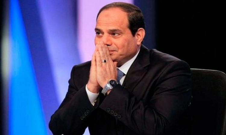 التلفزيون المصرى : السيسى يتفقد وحدات التدخل السريع