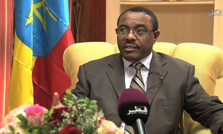"""رئيس الوزراء الإثيوبي للاناضول : علاقتنا بمصر تطورت منذ تولي """" السيسي """""""
