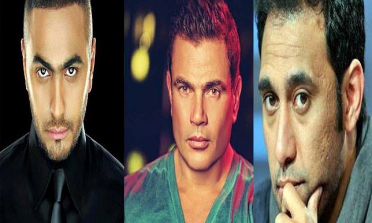 بالصور.. عمرو دياب وتامر حسني  ضحايا هجوم عمرو مصطفي