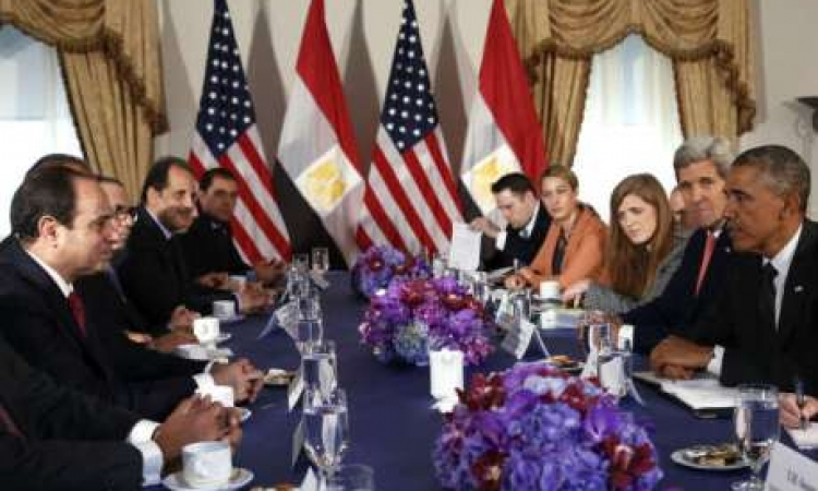 بالفيديو ..  السيسي وأوباما يبحثان العلاقات الثنائية ومكافحة الإرهاب
