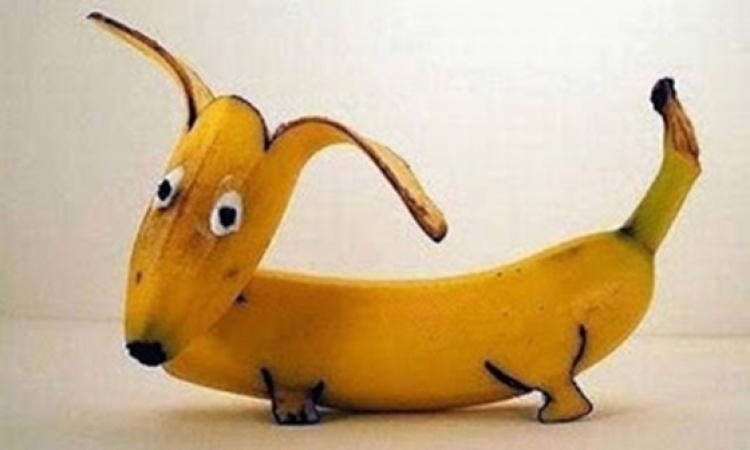 بالصور .. أشكال ورسومات مذهلة من الموز !!