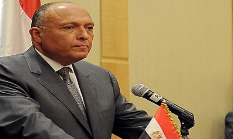 وزير الخارجية المصرية : الاولوية لمواجهة قضية داعش