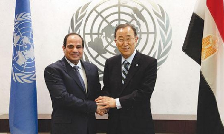 بالفيديو.. في كلمته أمام الأمم المتحدة .. السيسي: قناة السويس الجديدة هديتنا للعالم