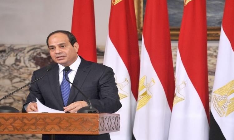بالفيديو .. الرئيس السيسى يشهد مراسم الاحتفال بعيد الشرطة