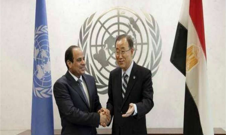 بان كي مون يؤكد للسيسي دعم الأمم المتحده لمصر في مكافحة الإرهاب