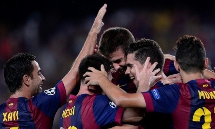 برشلونة يحقق فوزا باهتا 1-0 على أبويل في دوري الأبطال