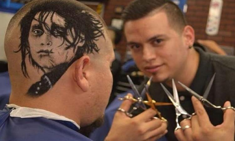 بالصور .. لوحات فنية على رؤوس البشر بالمقص والمشط 