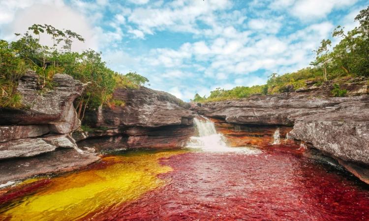 بالصور.. أجمل أنهار العالم.. نهر «قوس قزح السائل»