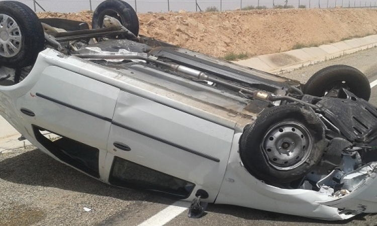 حادث مرورى على طريق إدفو مرسى علم  و إصابة 14 شخصًا