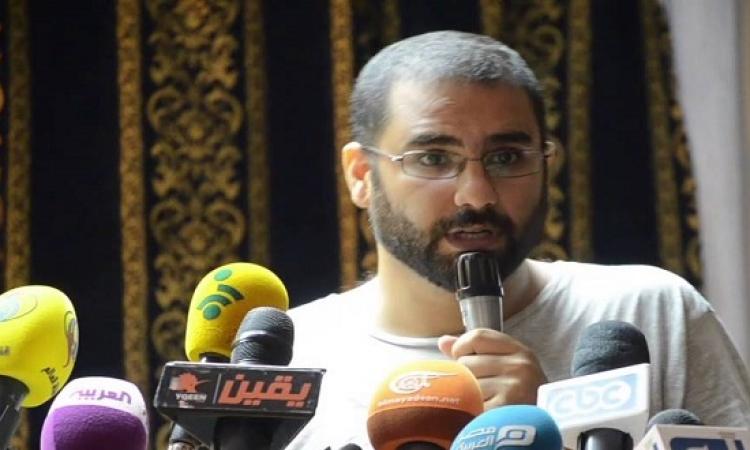 """""""الناشط علاء عبد الفتاح""""  :اصبح الصراع بين السلطة الحالية و الاخوان"""