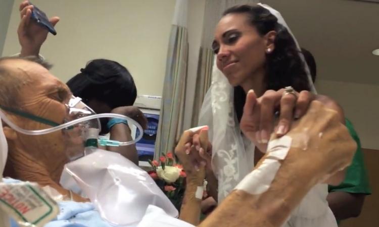 بالفيديو: عروس ترقص مع والدها المحتضر رقصة الوداع
