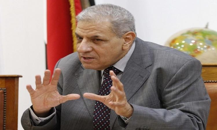 """""""محلب"""" يلتقى وزير الداخلية للاطلاع على جهود مكافحة الإرهاب"""