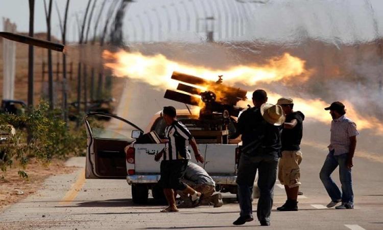 اشتباكات عنيفة بين الجيش الليبى وميليشيات ببنغازى