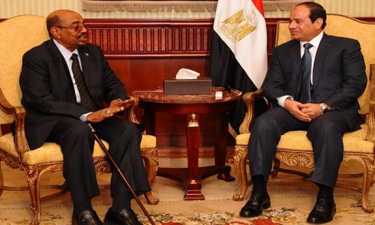 السيسى والبشير يتفقان على أهمية التوصل لحل سياسى فى ليبيا وسوريا