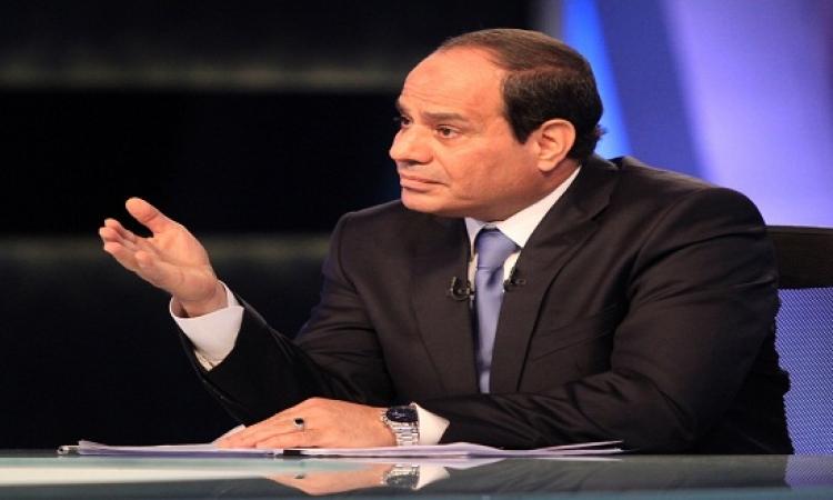 السيسى يجرى مقابلة مع تليفزيون الكويت ورؤساء تحرير الصحف الكويتية