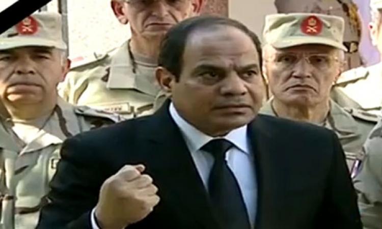 القوى السياسية فى مصر تشيد بكلمة الرئيس وتقف خلف الجيش والشرطة