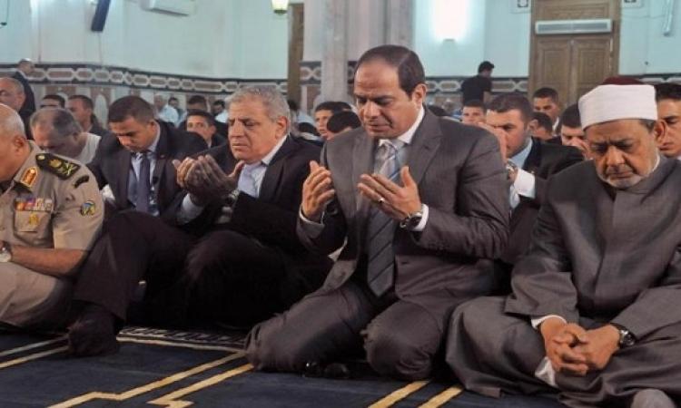 السيسي: لن ينسى الشعب المصرى المواقف التاريخية للملك عبد الله