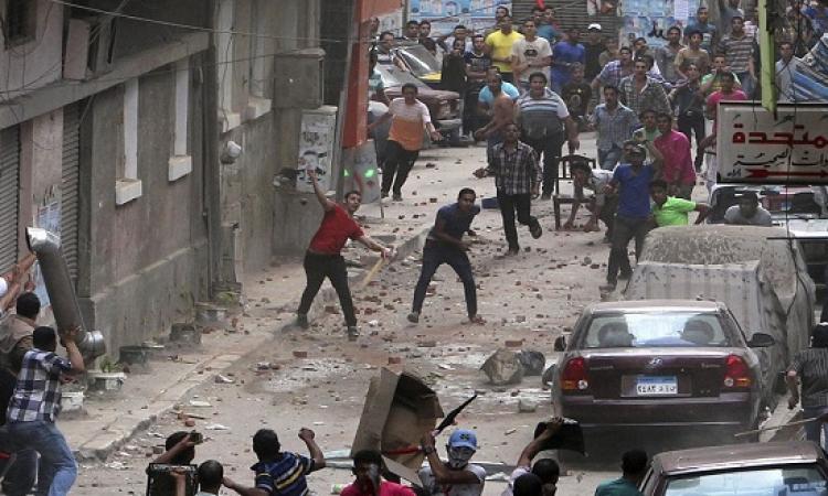 اشتباكات وتراشق بالحجارة بين الإخوان وأهالي بمنطقة الرمل بالإسكندرية