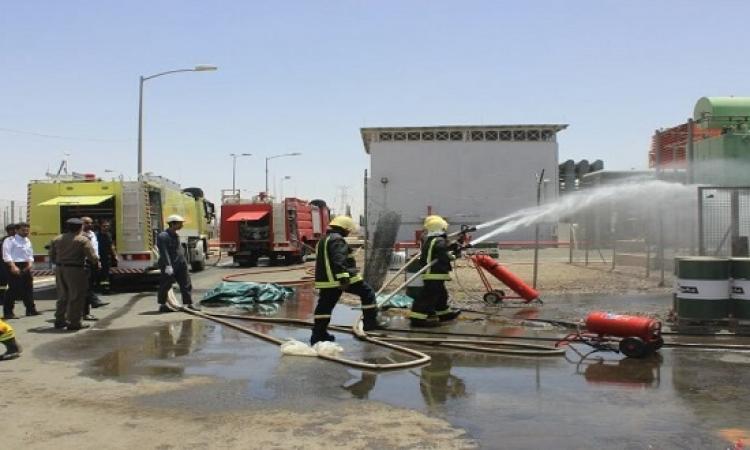 حريق فى محطة توليد كهرباء بشبرا الخيمة