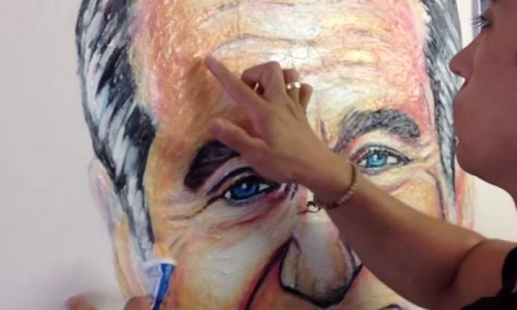 بالفيديو .. مكسيكى يرسم لوحات فنية .. بمعجون الأسنان !!