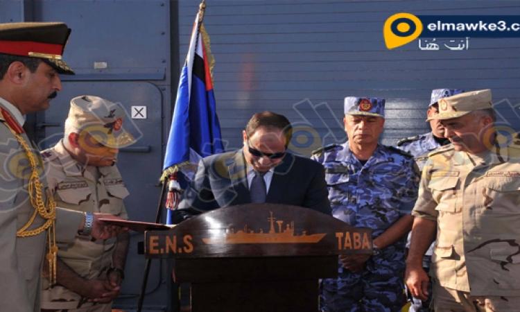 بالصور .. حضور السيسى المناورة البحرية ذات الصواري
