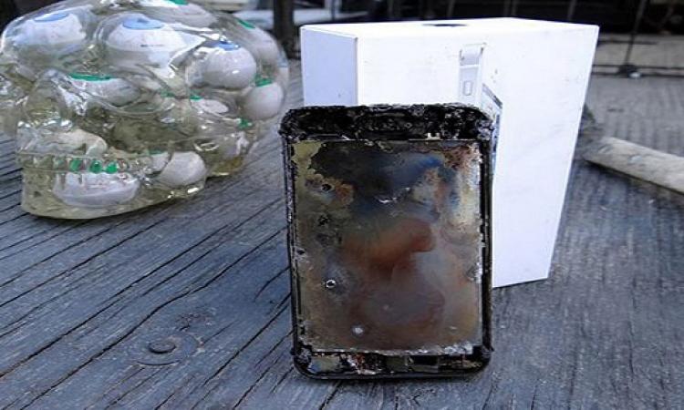 بالفيديو..خليجى يحرق ايفون 6