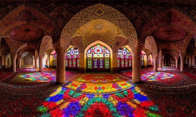 بالصور .. مسجد ناصر الملك فى ايران