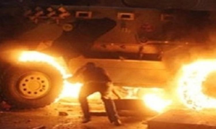 إصابة 4 مجندين فى انفجار عبوة ناسفة داخل سيارة بالألف مسكن