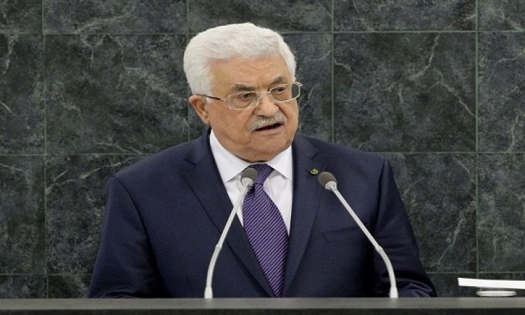 أبو مازن: حماس ليست شريكة فى حكومة الوحدة الوطنية
