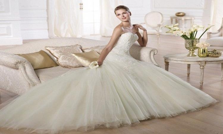 بالصور .. أحدث موديلات فساتين الزفاف