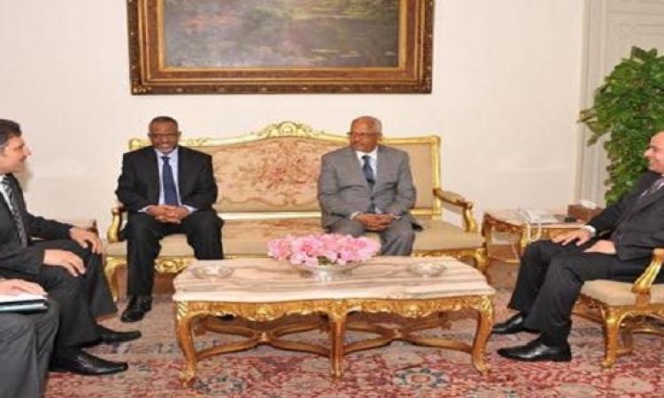 الرئيس يلتقي أعضاء اللجنة الثلاثية لسد النهضة .. ويؤكد : التعاون لا يقتصرعلى ملف المياه