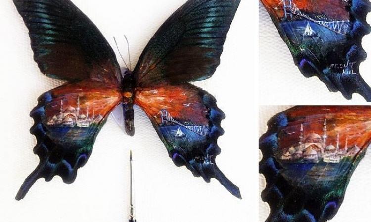 بالصور .. فنان برسم لوحاته على حبات الكاجو