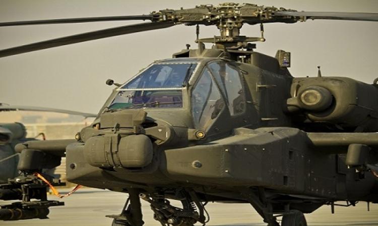 طائرات الأباتشى تدمر مخازن أسلحة والبؤر الإرهابية بسيناء