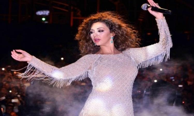 بالصور .. ميريام فارس تشعل دريم بارك في أولى حفلاتها بعد الزواج
