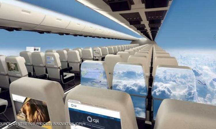 هل تتخيل أن تكون الطائرات بلا نوافذ.. فهذا مستقبلها خلال عقد من الزمن
