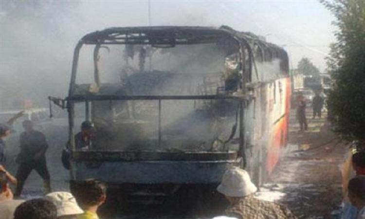الإخوان يحطمون محطة ترام المطرية ويشعلون النيران فى أتوبيس هيئة نقل عام