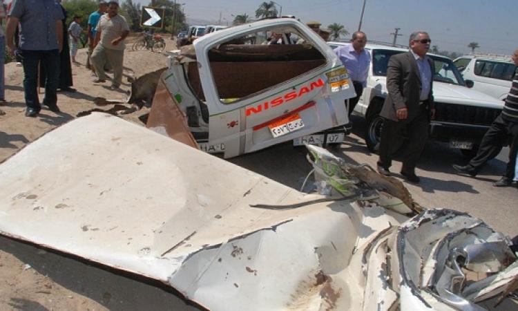 إصابة 37 مجند بقوات الأمن المركزى فى انقلاب أتوبيس بطريق السويس القاهرة